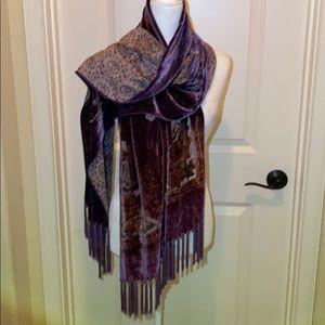 Velvet burnout scarf/wrap!🌺